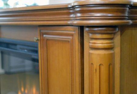 Портал Челси цвет сиена с очагом XHD 28