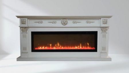 Комплект Византия Лонг цвет белый патина серебро, очаг  Ignite XLF50