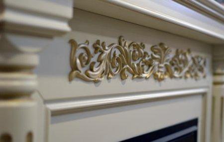 Комплект Монте Люкс цве белый с золотой патиной