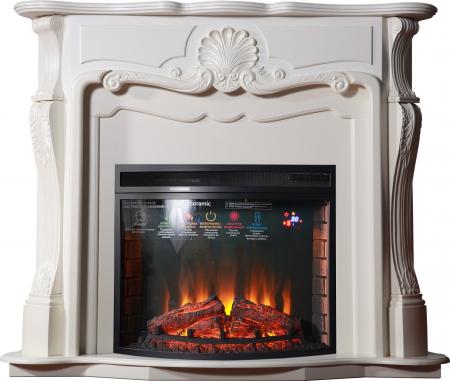 Комплект Gracia с очагом Panoramic 28, цвет белый