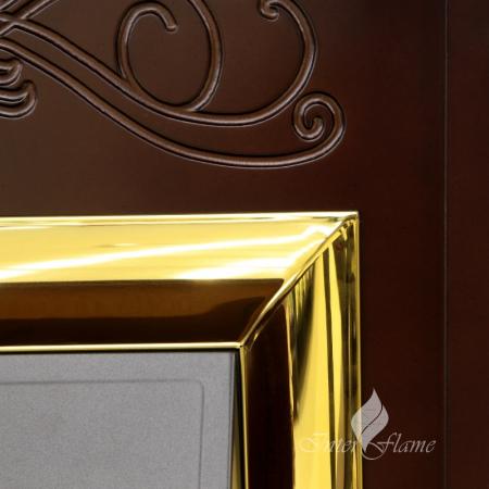Комплект Брайт Альпина с очагом Majestic, цвет тёмный дуб