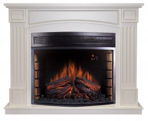 Комплект Boston цвет алебастр с очагом Dioramic 28 LED FX