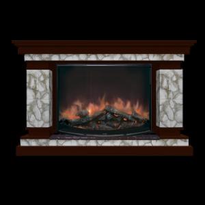 Комплект Лорд камень Карелия, цвет дуб 46, очаг Rondo S86